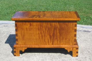 Tiger Maple Document Box - - - Blanket Chest photo