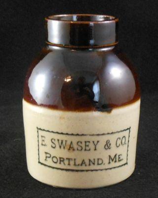 Great Antique Stoneware Oyster Jar