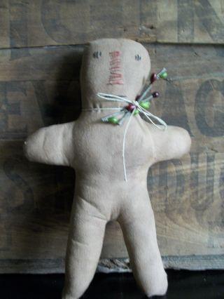 Christmas Primitive Ginger Bread Doll Shelf Sitter photo