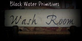 Buttermilk Wash Room Wooden Sign Primitive Outhouse photo