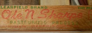 Vintage Ole N Sharpe Cheese Box - Red And Green Lettering photo