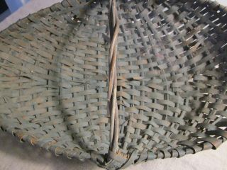 Old Blue Basket With Paint?? Different Kind Of Size And Shape. photo