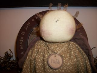 Primitive Faith Angel Doll Adorable photo