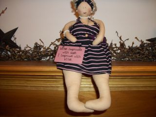 Wine O Woman Cloth Doll Adorable photo