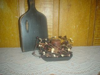 Primitive Candle Plate Grubby Votive Berry Ring Eb 131 photo