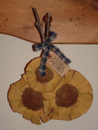 Primitive Grubby Sunflower Bundle - Fresh Picked photo