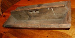 Old Pine Wood Cutlery Utensil Knife Tool Box photo