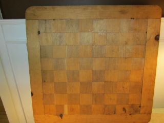 Double Sided Checkerboard/partially Completed/ Large/nice Frame. photo