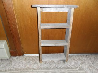 Primitive Barnwood Shelf photo