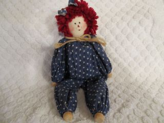 New Rageddy Ann Clothespin Doll Hand Made Red White Blue So Cute photo
