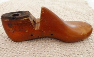 Vintage Cobblers Child ' S Left Wood Shoe Last United Last Co.  Quebec Size 9d photo