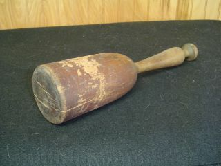 Antique Turned Wood Treen Potato Vegetable Masher 12