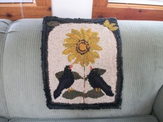 Crows On A Sunflower photo