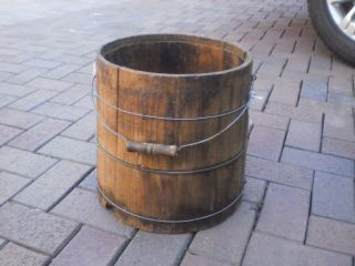 Wooden Primitive Pail photo