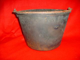 Antique 1851 H.  W.  Hayden Brass Ansonia Cooking Pot Patina photo