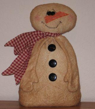 Primitive Folk Art Snowman photo