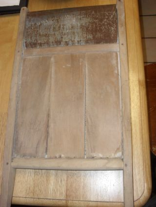 Antique National Washboard Soap Saver Wood & Metal Wash Board photo