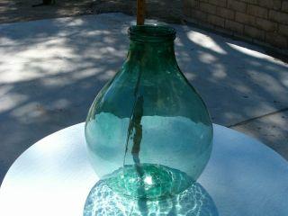 Vintage Giant Green Glass Jar 19