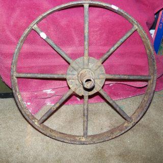 Antique Iron Wagon Wheel photo