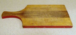 Vintage Pine Cutting Board Candle Board photo