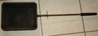 Antique Popcorn Basket With Handle And Wire Basket photo