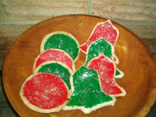 Primitive Christmas Cookies Bowl Fillers Ornies photo