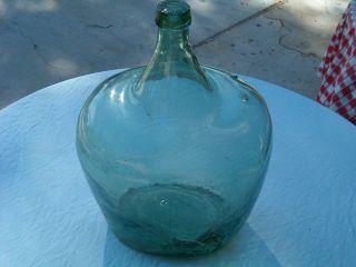 Old Hand Blown Wine Glass Jug 17 - 18