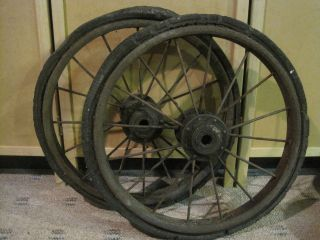 Vintage Wagon/cart Wheels photo