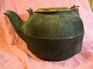 Wrought Iron Rance Co Antique Cast Iron Tea Kettle photo