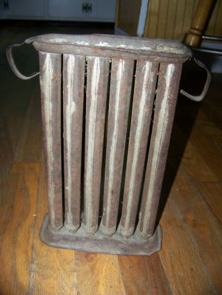 Antique Primitive Candle Mold 1800 ' S 12 Holes Tin Candle Maker photo