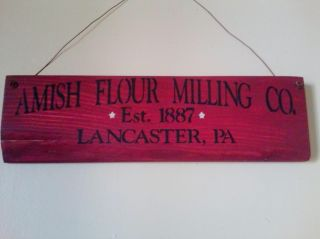 Amish Flour Milling Co.  Sign (rockwood Red) photo