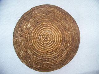 Antique Vintage Primitive Handmade Coiled Basket,  10