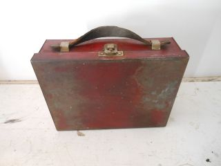 Painted Tin Lunch Box; Old photo
