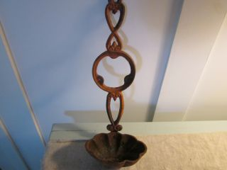 Cast Iron Wall Hanging With Scallop Bowl.  Take A Look. photo