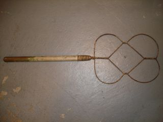 Awesome Vintage Wood Handle Rug Beater photo