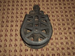 Antique Cast Iron Pulley photo