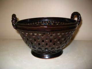 Wonderful Redware Bowl From Greenfield Village,  Henry Ford Museum photo