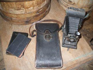 Olde Primitive/antique Eastman Kodak Camera And Case photo