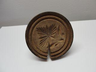 Antique Wooden Butter Print / Butter Press,  Butter Mold photo