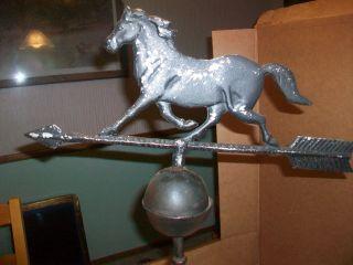 Vintage Cast Iron Weathervane Horse Farm photo