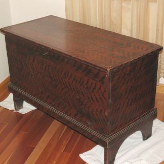 The Best Early Paint Decorated Blanket Box From Vernon Ny photo