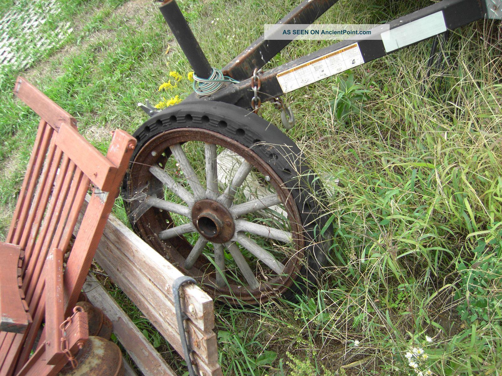 Steel Wagon Wheels Yard Art