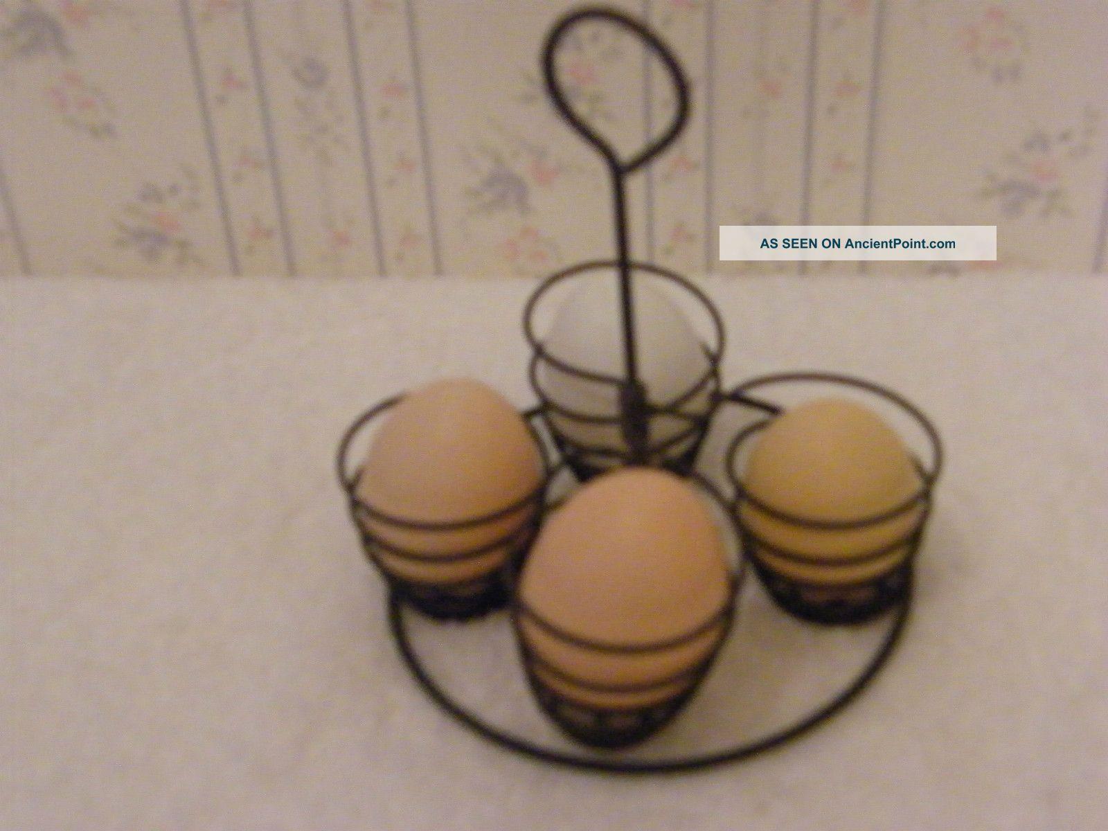 Vintage Old Metal Egg Holder Rack For Pot Primitives photo