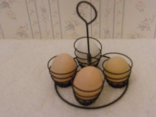 Vintage Old Metal Egg Holder Rack For Pot photo