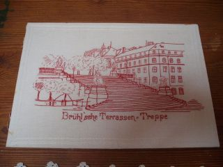 Antique Redwork Embroidered Picture photo
