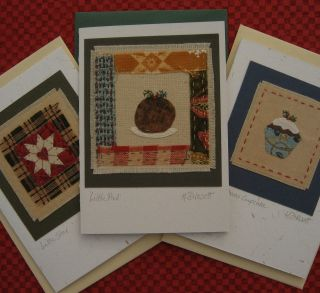 Special Offer Three Hand - Stitched Cards By Helen Drewett Low Start Price photo