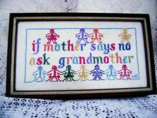 Antique Paper Dolls Cross Stitch If Mother Says No Ask Grandmother photo