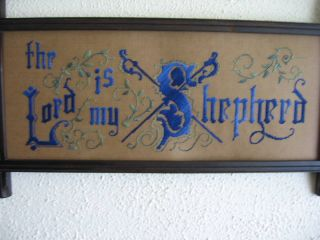 Antique Sampler Style Motto Lord Is My Shepherd Kit photo
