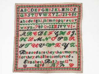 1877 Victorian Four Colour Sampler 11