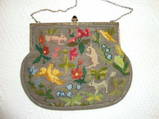 Antique Tapestry Evening Bag Probably Victorian photo